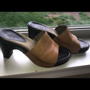 Cole Haan side on mules